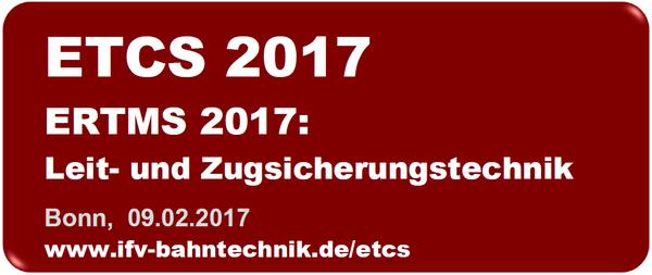ETCS // ERTMS 2017 @ Maritim Hotel Bonn  | Bonn | Nordrhein-Westfalen | Deutschland